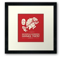 hammer throw contest Framed Print