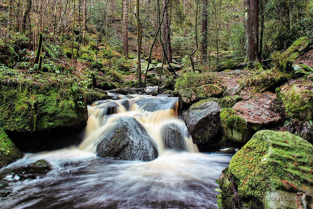 Wyming Brook Cascades by John Dunbar