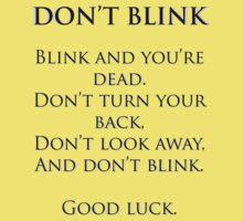 Don't Blink Kids Tee
