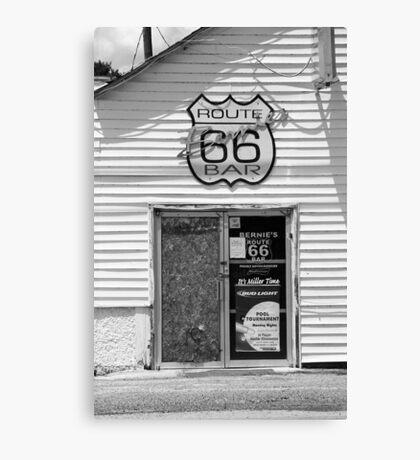 Route 66 - Bernie's Bar Canvas Print