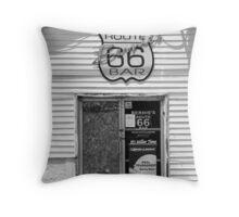 Route 66 - Bernie's Bar Throw Pillow