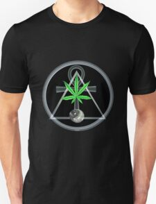 Triangle , ankh and pot leaf from Valxart.com  Unisex T-Shirt