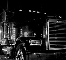 Freightliner by Night on the Sand of Miami Beach, Florida by Jeremy Lavender Photography