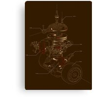 Recycling Robot Canvas Print