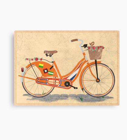 Love Holland, Love Bike Canvas Print