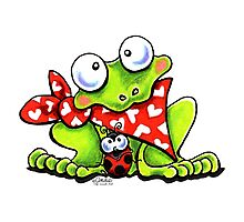 Sweet Frog n Ladybug Photographic Print