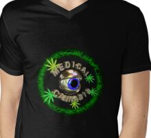 Eye of Medical Cannabis from Valxart.com Mens V-Neck T-Shirt