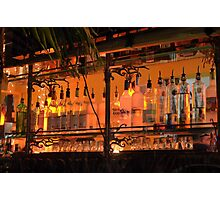 The Back Side of the Bar... Street View on Collins Ave in Miami Beach Photographic Print