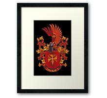Suckau Coat of Arms Heraldry Germany Framed Print
