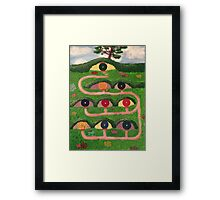 In a hole in the ground Framed Print
