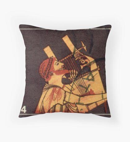Orpheus Postage Stamp Throw Pillow