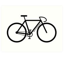 Bike Silhouette Art Print