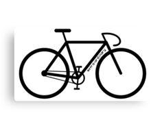Bike Silhouette Canvas Print