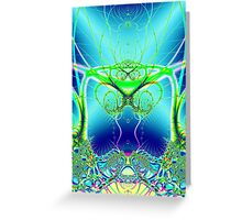 Water World Fractal Greeting Card