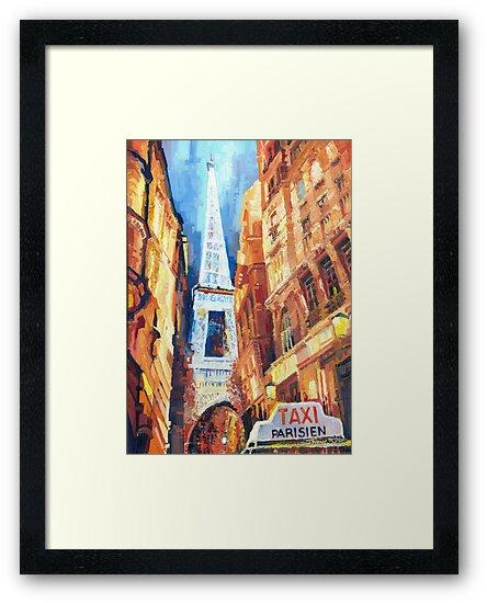 Paris Taxi Parisien  by Yuriy Shevchuk