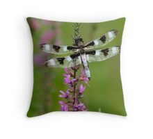 Indian Park Dragonfly Throw Pillow