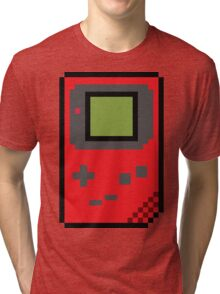 8 bit Gameboy Classic Red Tri-blend T-Shirt
