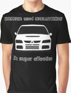 Mitsubishi Evo used Evolution It was Super Effective! Pokemon Gag Sticker / Tee - Black Graphic T-Shirt