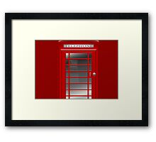 London Red Phone Booth Box  Framed Print