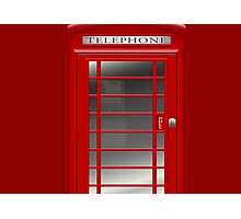 London Red Phone Booth Box  Photographic Print