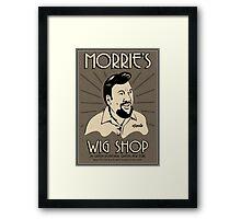 Goodfellas, Morrie's Wigs Shop Sign T-shirt  Framed Print