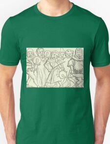 MARDI GRAS Music. Antique Book Art Reproduction T-shirt. Unisex T-Shirt