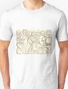 MARDI GRAS Music. Antique Book Art Reproduction T-shirt. T-Shirt