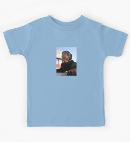 Regal and Proud Male Rottweiler Portrait Kids Tee