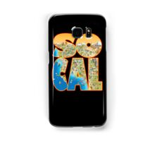 So Cal Cartoon Map Text Graphic Samsung Galaxy Case/Skin