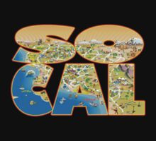 So Cal Cartoon Map Text Graphic by Dave Stephens