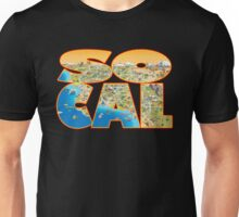 So Cal Cartoon Map Text Graphic Unisex T-Shirt