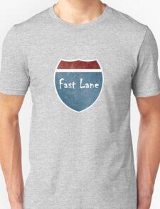 fast lane speed sign funny bro club tee  T-Shirt