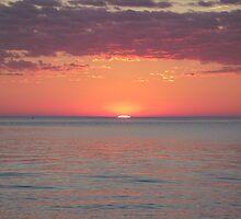Sunset on Lake Michigan by agrusag