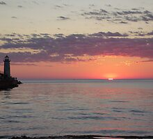 Sunset With lighthouse 4 by agrusag