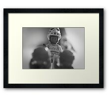 Hexagon Man Boob Framed Print