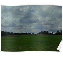 Open field landscape Poster