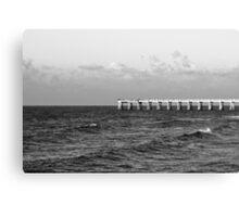 b&w navarre beach, FL Canvas Print
