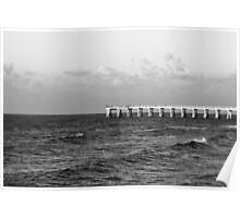 b&w navarre beach, FL Poster