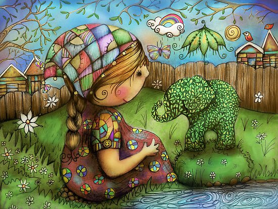 There's an Elephant in my Garden by © Cassidy (Karin) Taylor