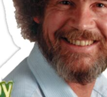 Bob Ross And His Happy Trees Sticker