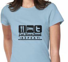Eat,Sleep,Tweet,Repeat Womens Fitted T-Shirt