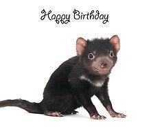 A Tasmanian Devil birthday card 2L by Gerry Pearce