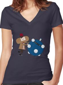 Katamari Is Cool Women's Fitted V-Neck T-Shirt
