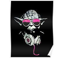 Yoda Headphone Poster
