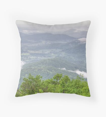 Low Clouds Of The Mountains Throw Pillow