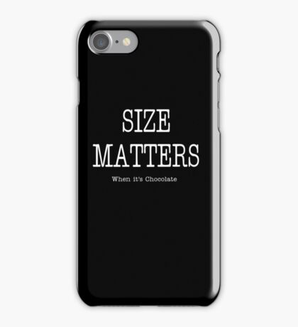 Size Matters iPhone Case/Skin