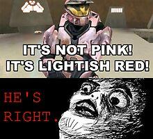 It's Lightish Red by Theenslavedmnky
