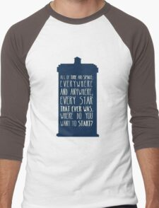 All Of Time And Space Men's Baseball ¾ T-Shirt