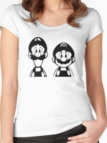 Mario & Luigi Women's Fitted Scoop T-Shirt