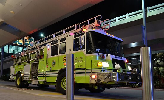Miami Dade Fire Rescue Truck parked at MIA, Florida  by 242Digital
